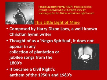 History of some Spirituals (playing guitar incorporated)