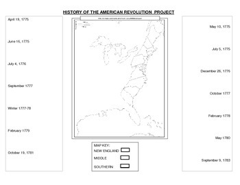 History of the American Revolution Foldable Project