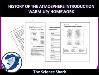 History of the Atmosphere - Warm-up and Homework Assignment