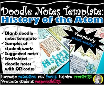 History of the Atom - Chemistry Doodle Notes