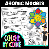 History of the Atom Color By Number | Science Colory By Number