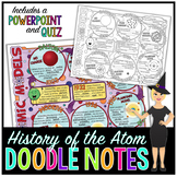 History of the Atom Doodle Notes   Science Doodle Notes