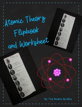 History of the Atomic Theory Wksheet & Flipbook