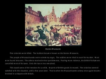 History of the Boston Tea Party Powerpoint