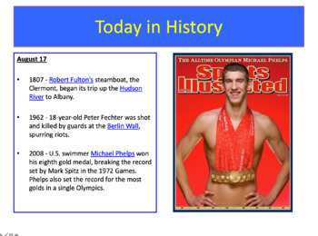 History of the Day (Entire School Year)