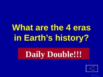 History of the Earth - Jeopardy Review Game