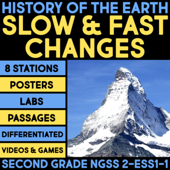 History of the Earth- Slow and Fast Changes - Second Grade Science Stations