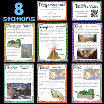 History of the Earth - Slow and Fast Changes - Second Grade Science Stations