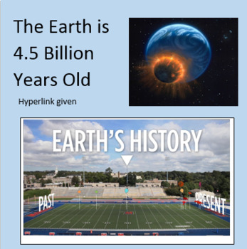 History of the Earth's 4.5 Billion years Skunk Bear NPR worksheet