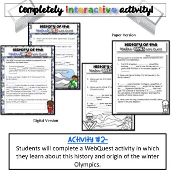 History of the Games:  Winter Edition {Digital AND Paper}