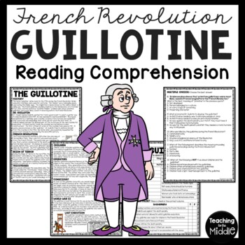 History of the Guillotine, French Revolution, Reading Comprehension