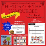 History of the Hamburger Timeline Activity PowerPoint Pape