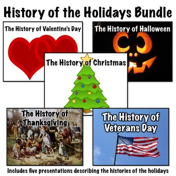 History of the Holidays Presentations Bundle