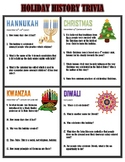 History of the Holidays {Trivia Activity}