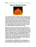 History of the Jack O' Lantern