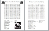 History of the QWERTY Keyboard and Typing Word Search with Solution- 20 words