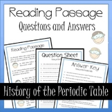 History of the Periodic Table Reading, Questions and Answers