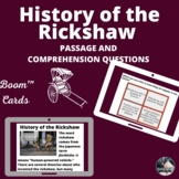 History of the Rickshaw Boom™ Cards passage and comprehens