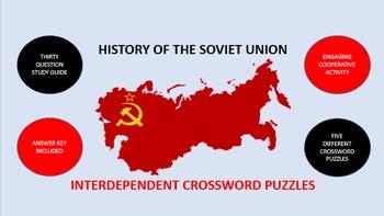 History of the Soviet Union: Interdependent Crossword Puzzles Activity