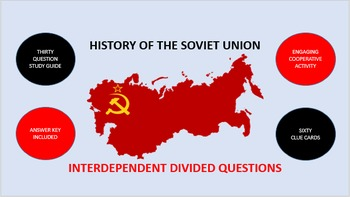 History of the Soviet Union: Interdependent Divided Questions Activity