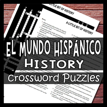 History Of The Spanish Speaking World Culture Crossword Puzzle