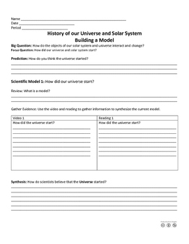 History of the Universe and Solar System