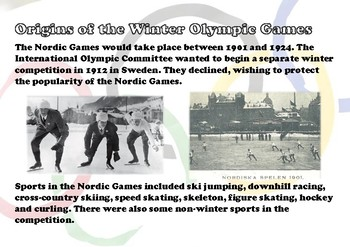 History of the Winter Olympic Games