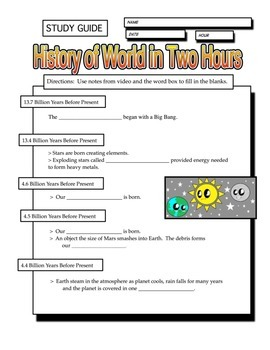 History of the World in Two Hours Study Guide & Quiz