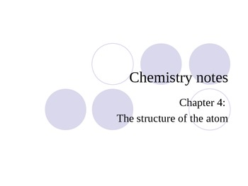History of the atom and atomic structure