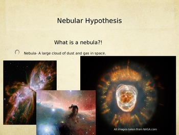 History or Earth: Nebula Hypothesis