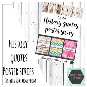 History quotes poster series