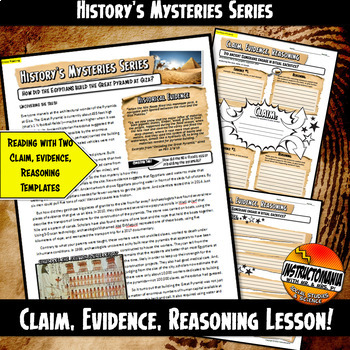 History's Mysteries: How Did Ancient Egypt Build Pyramids? Claim & Evidence CER
