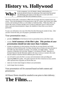 History v. Hollywood Presentation