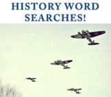 History word searches (10 history topics bundle)