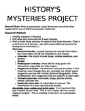 History's Mysteries Research Project for High School