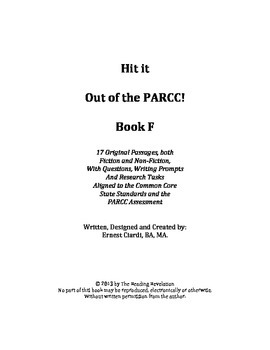 Hit It out of the PARCC! Book 4, Grade 6