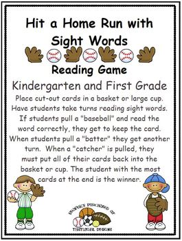Hit a Home Run with Sight Words - K-2 Combo Pack