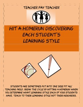 Hit a Homerun Discovering Each Student's Learning Style