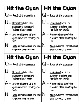 Hit the Quan Test Taking Strategies Cards