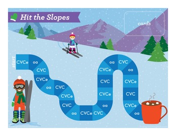Hit the Slopes short o, CVCe, oa Phonics Game - Words Their Way Game