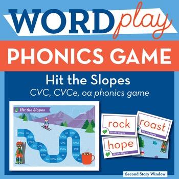 Hit the Slopes short o, CVCe, oa Phonics Game