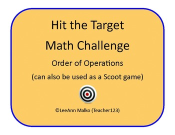Hit the Target Math Challenge - Order of Operations