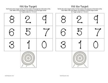 Hit the Target Math Game