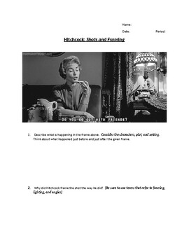 Hitchcock Shots and Framing Quiz or Questions