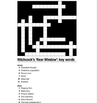 Hitchcock's 'Rear Window': key words