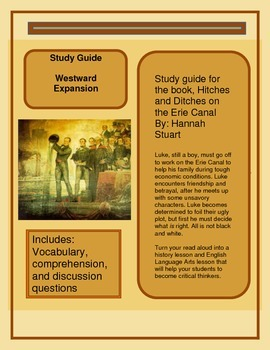 Hitches and Ditches on the Erie Canal by Hannah Stuart Book Study Guide