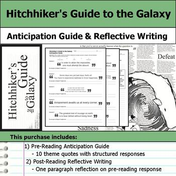 Hitchhiker's Guide to the Galaxy - Anticipation Guide & Reflection