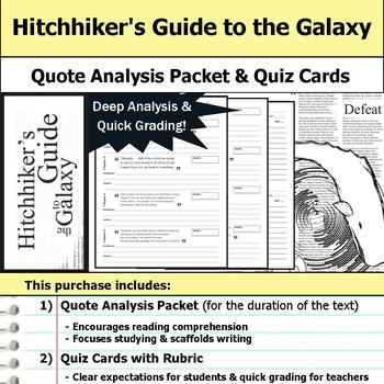 Hitchhiker's Guide to the Galaxy - Quote Analysis & Reading Quizzes