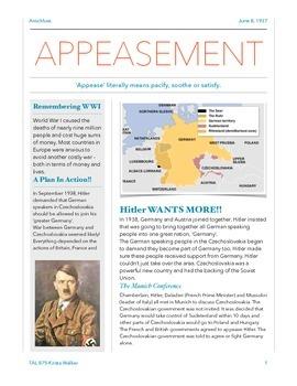 Hitler Appeasement-Reading