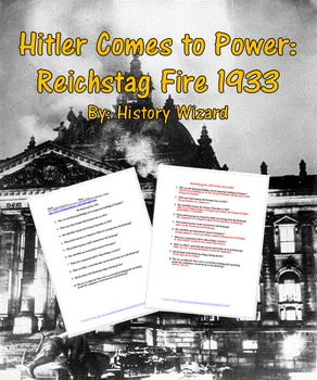 Hitler Comes to Power: Reichstag Fire 1933 (Pre-World War II Primary Source)